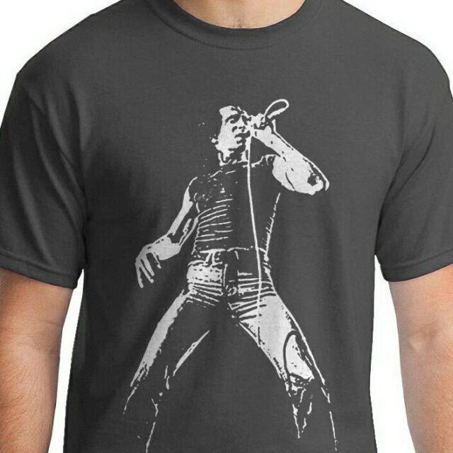Bon Scott AC/DC Maglietta Heavy Metal Vintage Style Guitar Rock Nero SM-5XLG