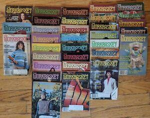 Lot-32-vintage-issues-The-Workbasket-1979-1983-Needlecraft-Craft-Magazine-80-81