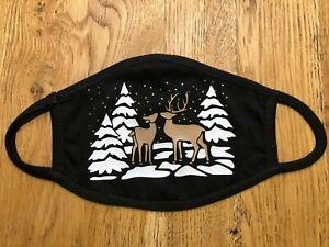 Mundschutz Maske Behelfsmaske 2lagig waschbar 60°C Weihnachten 100% Baumwolle