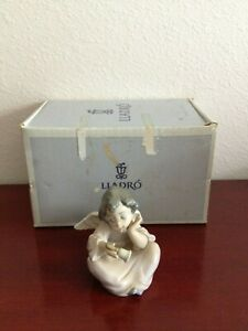 VINTAGE-LLADRO-DAISA-ANGELITO-REPICANDO-PORCELAIN-FIGURINE-HAND-MADE-SPAIN-W-BOX