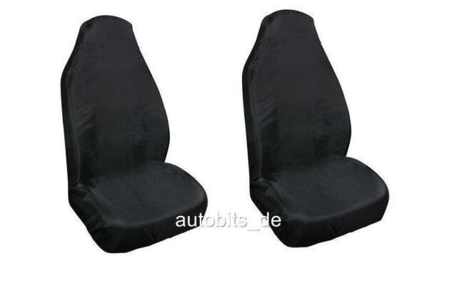 2x Noir Atelier / Garage Housse de Siège Protection pour Audi Citroen Fiat