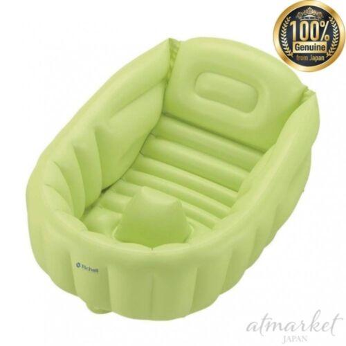 Richell Flauschig Baby Bade mit Grünem Neugeborenes bis über 3 Monate 21322