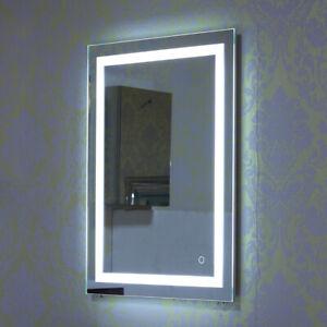 Details zu Badspiegel LED Badezimmerspiegel Beleuchtet Bad Spiegel  Wandspiegel 50x70cm
