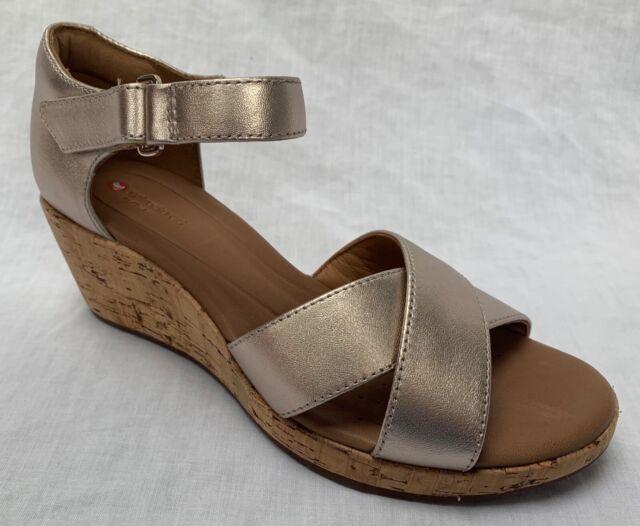 BNIB Clarks Unstructured Ladies Un Haywood Red Leather Flat Sandals