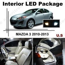 White LED Lights Interior Package Kit for Mazda 3 2014 & up ( 6 Pcs )