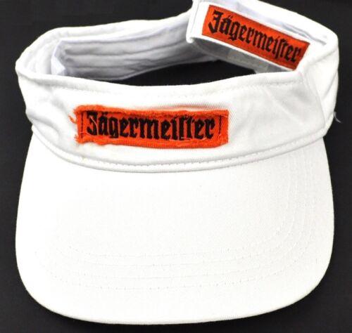 Jägermeister USA Sonnenschutz Schirm Visor Kappe Schirmmütze Cap weiß