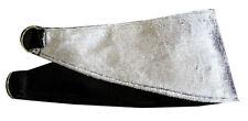 Pair of velour velvet Silver black reversible Tie Backs Curtains Blind Holder