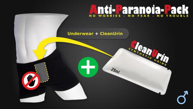 CleanU Anti-Paranoia Pack Spezial-Unterhose+25ml CleanUrin Clean Urin +Unterhose