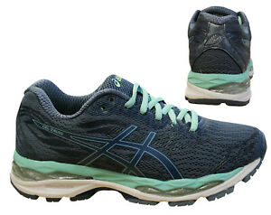 Detalhes sobre Asics Gel-Ziruss Zapatillas Punto Zapatos Mujer Cordones  Textil Azul T7J6N 5656