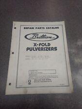 Brillion X Fold Pulverizers Parts Manual 6j863