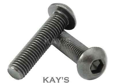 SELF COLOUR BLACK Socket Button Screws//Button Head Screws M6 M8 M10