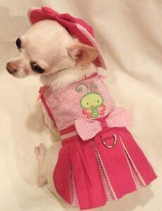 Harness-Dress-Dog-dress-Dog-clothes-Butterfly-Baby-Set-XS-S-M-L-FREE-SHIP