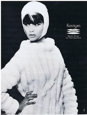 In Quality Straightforward Publicite Advertising 044 1964 Korrigan Sports D'hiver En Tricot Bouclette Excellent