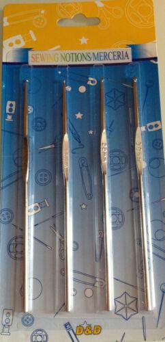 LOT 4 AIGUILLES A TRICOTER CROCHET 12 CM ET N° 1 ; 1,5 ; 2 ET 3 mm 100/% NEUFS