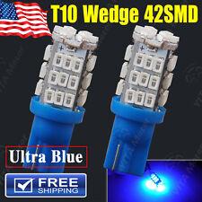 2 X Hyper Blue T10 42-SMD LED BACK UP REVERSE & 3rd Brake Light Bulbs