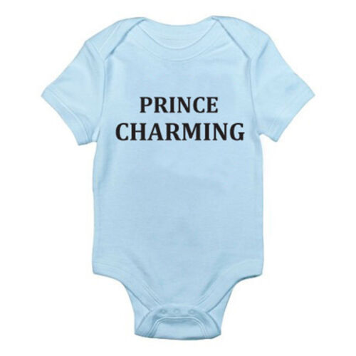 Attractive Charmer PRINCE CHARMING Novelty Themed Baby Grow//Suit Royalty