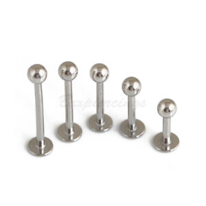 16g-14g-Stainless-Steel-Labret-Lip-Monroe-Cheek-Tragus-Ring-Stud-Silver-Piercing