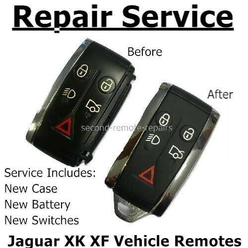 Jaguar key fix  XF XK Smart Key Fob Repair New cover, buttons, chrome, battery