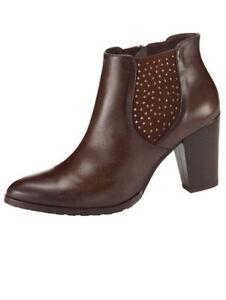 5 Schuhe Liva Damenschuhe Gr417 Loop Details Stiefelette Leder Stiefel Zu ULzMVSpqG
