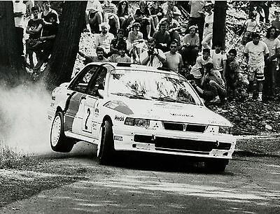 Poster & Bilder Auto & Motorrad: Teile Pressefoto Mitsubishi Rallyecar Rallyeauto 21,3x16,4 Cm Press Photo Auto Pkws