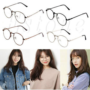eyeglasses fashion dw86  Image is loading Fashion-Women-Girls-Thin-Metal-Spectacle-Frame-Eyeglasses