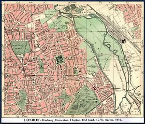 Old Ordnance Survey Maps Hackney Homerton near Stratford London 1893 Sheet 41