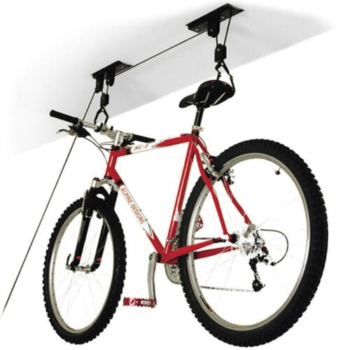 2x  Cycle bike storage lift bicycle ceiling mount rack high pulley hoist garage