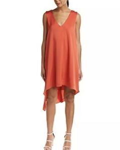 789fa891b762 Image is loading NWT-BCBGMAXAZRIA-Woman-s-Asymmetrical-Orange-Dress-HI-