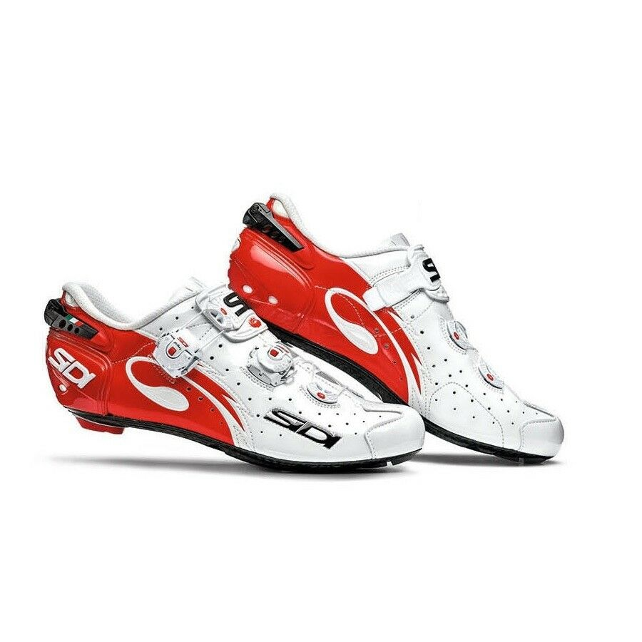 SIDI Wire Carbon Road Cycling shoes Bike shoes White Red Size 39-46 EUR