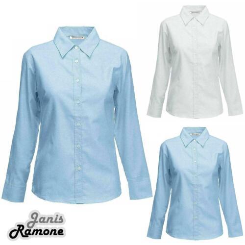 Kids Girls Plain Long Sleeve Shirts Collared School Uniform Twin Pack Shirt Top