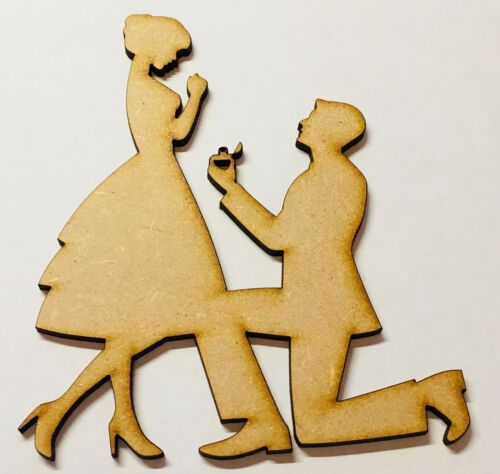 Couple Proposing Engagement Wedding Blank Size 120mm X 100mm Mdf Laser Cut Craft