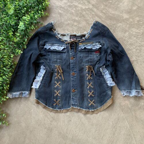 Parasuco Denim Jean Jacket • Blue Cropped Frayed R