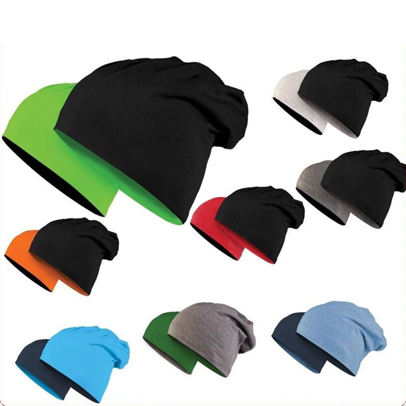 b4cf12e8a10 KMA Reversible Long Jersey Beanie Winter Summer Hat Cotton Fabric ...