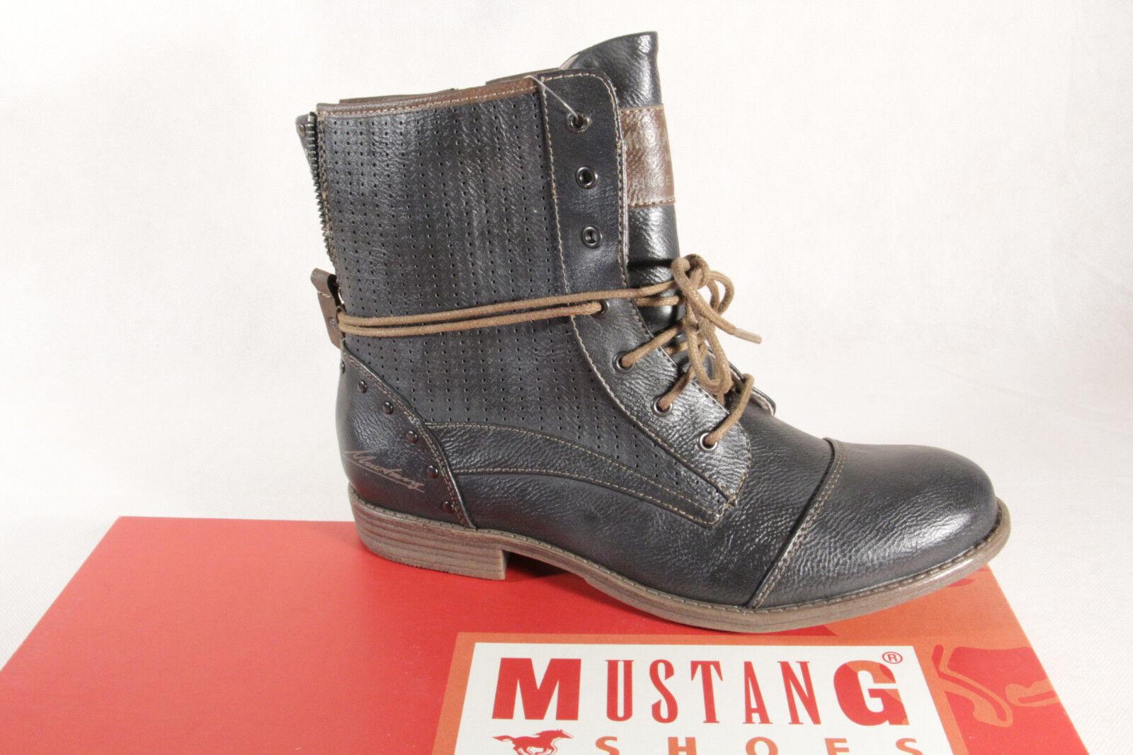 Mustang Botines botas de cordón Botas grafit NUEVO