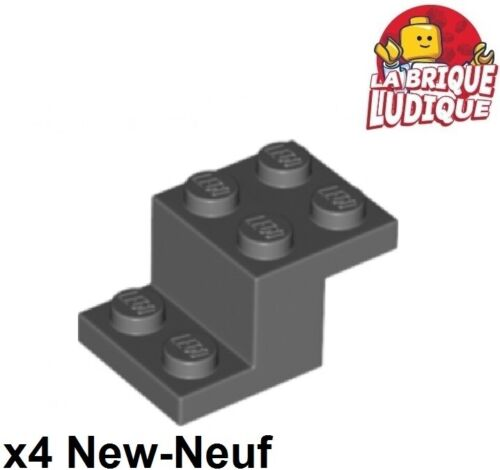 Lego 4x Clamp Support 3x2x1 1//3 Dark Grey//Dark Offer Gray 18671 NEW
