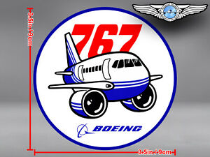 BOEING 767 B767 PUDGY STYLE ROUND DECAL / STICKER