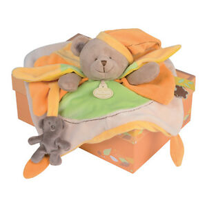 FRENCH-Doudou-et-Compagnie-Bear-Soft-Toy-BRAND-NEW-FREE-DELIVERY