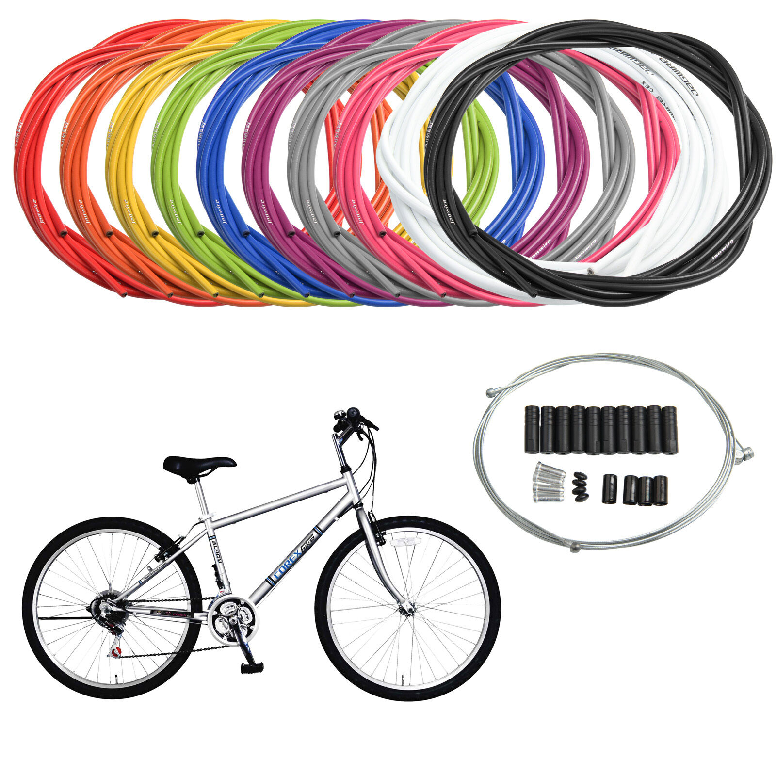 Mountain Bicycle MTB Road Bike Wire Gear Brake Cable Inner Outer Front Rear Set