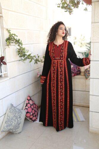 Embroidered Thobe Abaya Traditional Palestinian Thob caftan Dress all Sizes