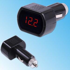 Auto-12V-24V-LED-Zigarettenanzunder-Batterie-Tester-Spannungsanzeige-Voltmeter