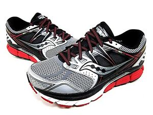 cc3c2d18e6 SAUCONY REDEEMER ISO RUNNING SHOE MENS S20280-1 SILVER/BLACK/RED ...