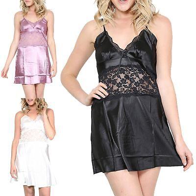 Womens Ladies Lingerie Summer Sleepwear Beach Middle Lace Strappy Nightwear Top