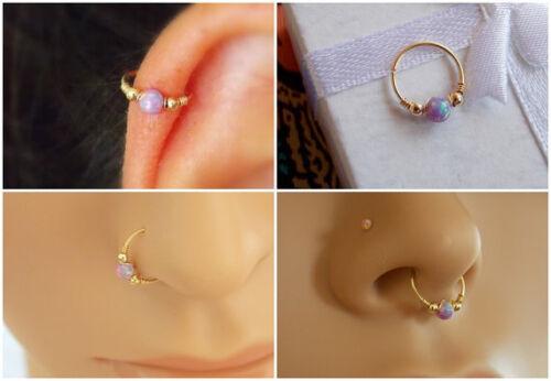 Opale Cartilage Piercing Opal Tiny Cerceau Body Jewelry Helix Hoop Tragus Nez Anneau