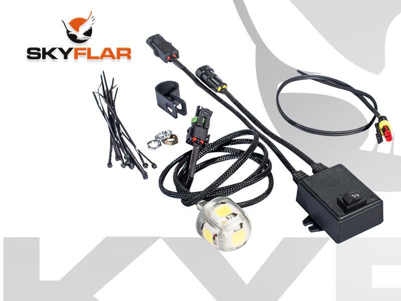 Skyflar 17 V LED luz estroboscópica Paramotor hasta 5 mi (approx. 8.05 km) 50 W Batería Power no visible