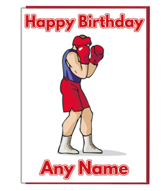 Personalised Boxer Boxing Birthday Card