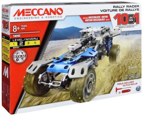 Brand New Meccano 10 in 1 Model Set Rally Racer Meccano