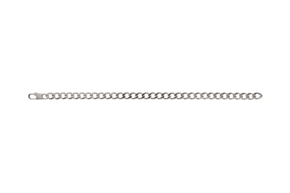 argentoo Sterling Da Uomo Uomo Uomo braccialetto di diamanti taglio Cordolo nuovo 0a25d8