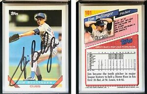 Jim Bullinger Signed 1993 Topps #101 Card Chicago Cubs Auto Autograph