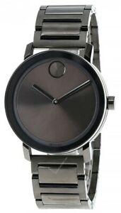 MOVADO Bold 40MM Quartz SS Gunmetal Dial Bracelet Men's Watch 3600509