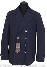 GUCCI Herren Winter Jacke Mantel Jacket Coat Sakko Marine Blazer Größe 50 M Navy